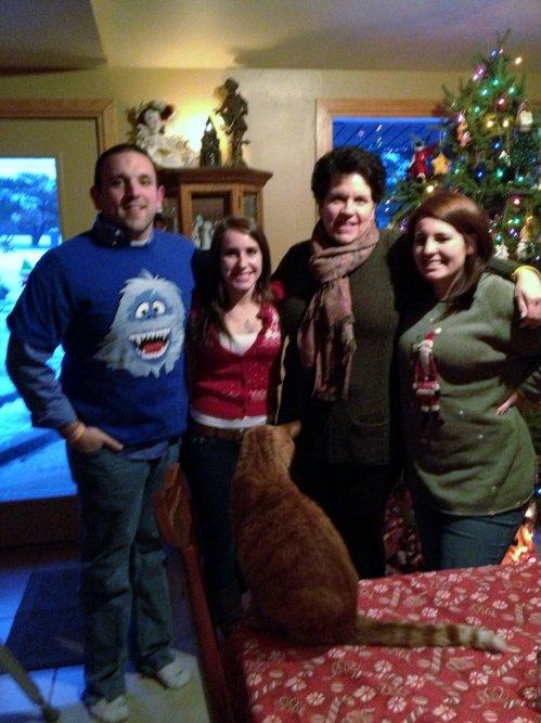 Christmas Kiddies and Kitty