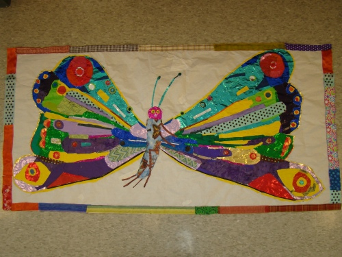 Eric Carle butterfly collage