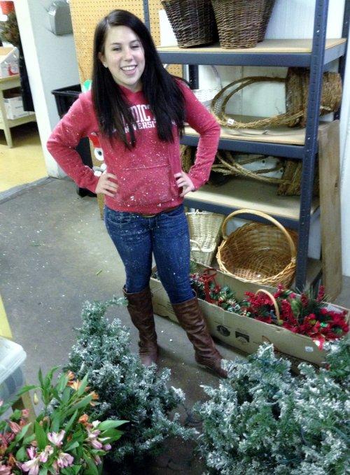 Maddie Puts Away Christmas